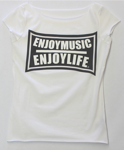 FLEX - SCOOP NECK WOMEN MUSIC TOP - ENJOYMUSIC ENJOYLIFE