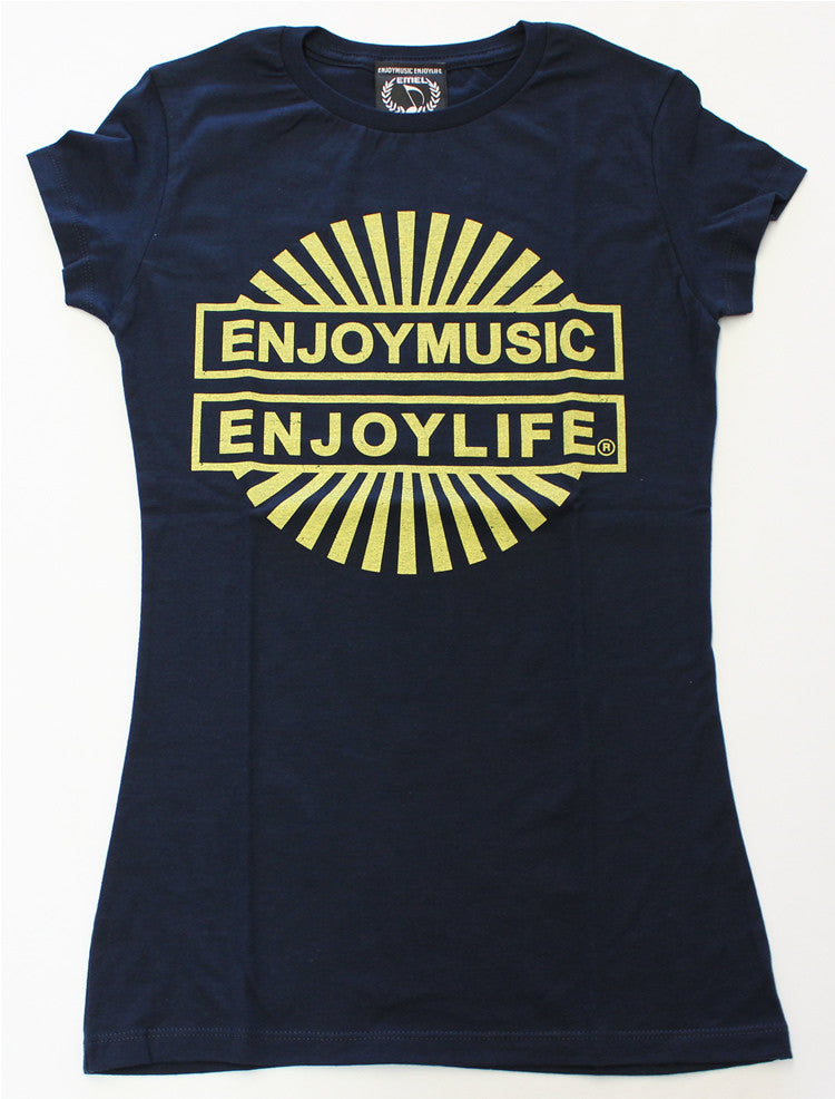 Postive music t-shirt - Let your light sunshine - music fashion tee