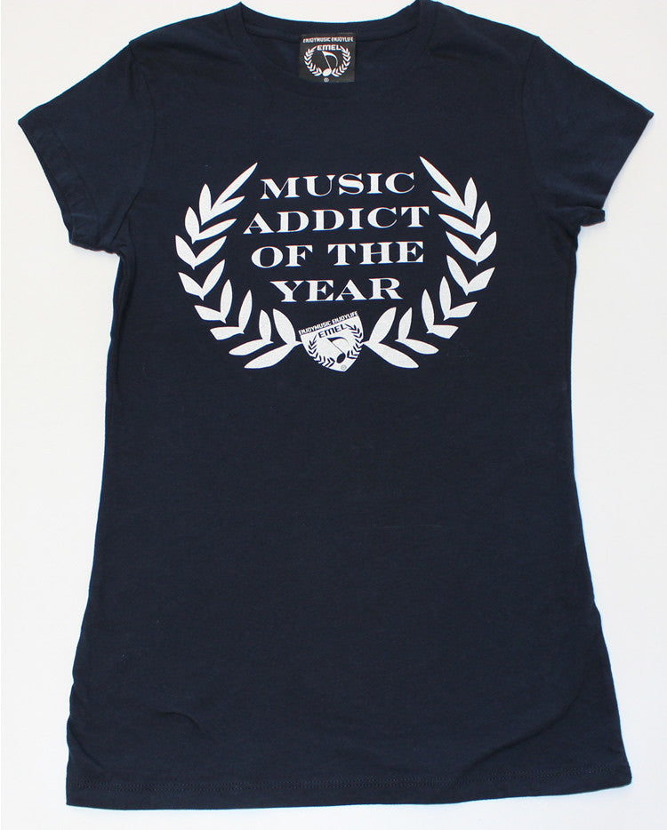 Picture of Women's Music Addict of the Year Music T-shirt by ENJOYMUSIC ENJOYLIFE Fashion Brand