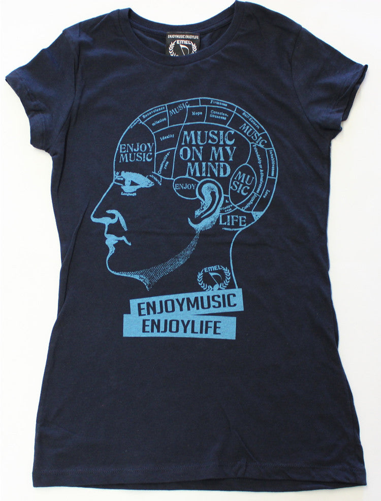 Picture of Women's Music On My Mind Music T-shirt by ENJOYMUSIC ENJOYLIFE Fashion Brand