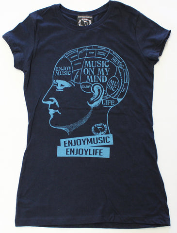 MUSIC ON MY MIND MUSIC T-SHIRT - WOMEN - ENJOYMUSIC ENJOYLIFE FASHION BRAND