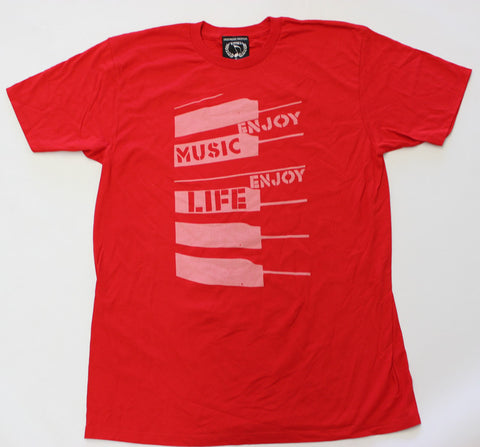 ABSTRACT PIANO KEYS MUSIC T-SHIRT - MEN - ENJOYMUSIC ENJOYLIFE FASHION BRAND