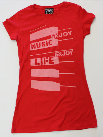 ABSTRACT PIANO KEYS MUSIC T-SHIRT - WOMEN - ENJOYMUSIC ENJOYLIFE FASHION BRAND