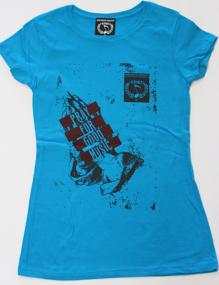 Blue Picture of Pray for Music T-shirt by ENJOYMUSIC ENJOYLIFE fashion brand