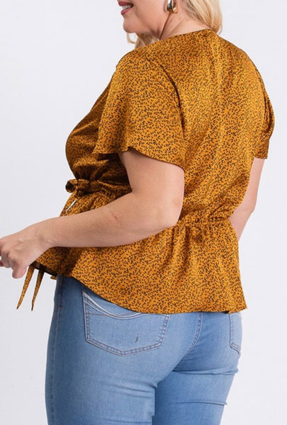 Satin Pattern Print Top