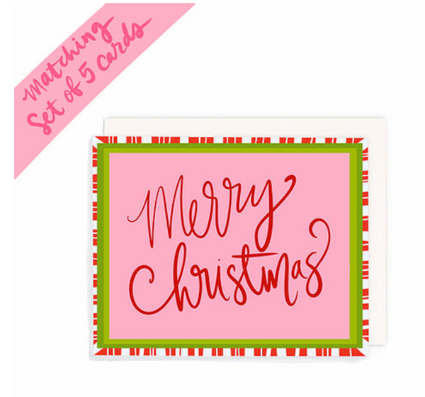 """Merry Christmas"" Card Pack of 5"