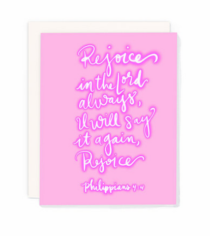 Philippians 4:4 Greeting Card