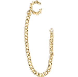 Cuban Chain Link Earring with Cuff