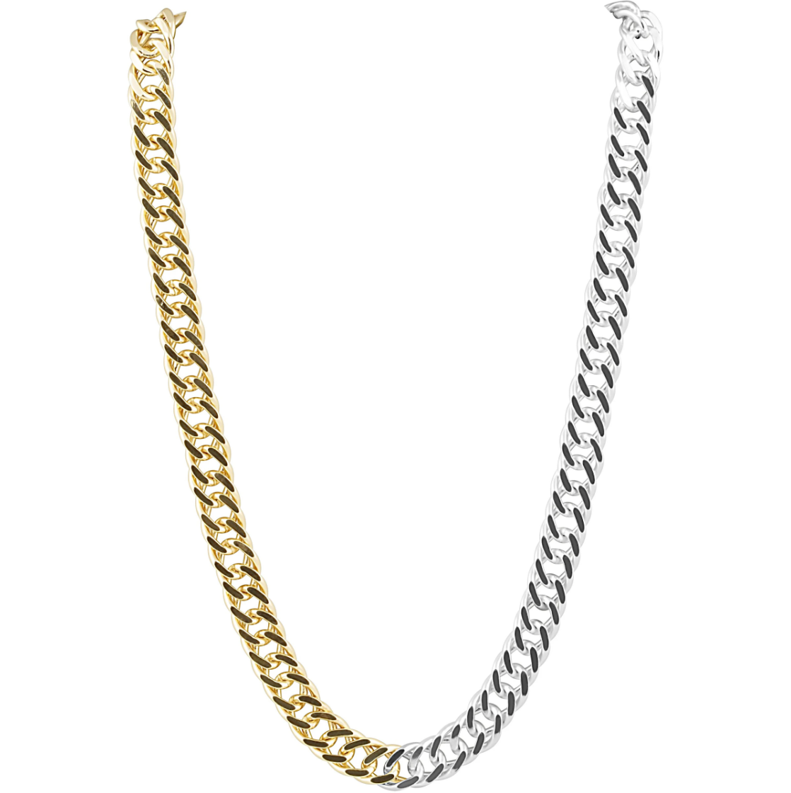 Kayla Link Two Tone Necklace