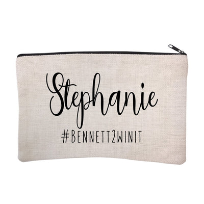 Personalized Bridal Party Hashtag Cosmetic Bag