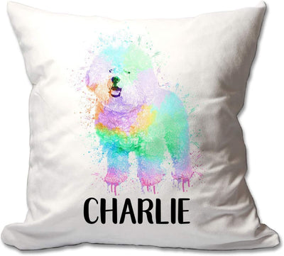 Personalized Watercolor Bichon Frise Throw Pillow  - Cover Only OR Cover with Insert
