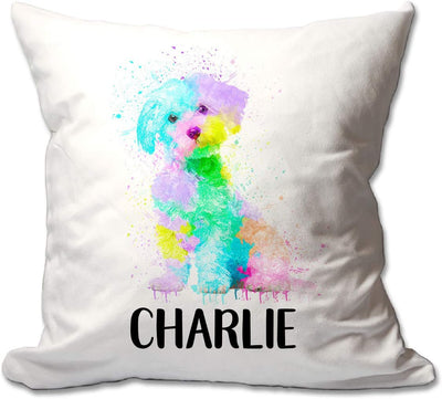 Personalized Watercolor Maltese Throw Pillow  - Cover Only OR Cover with Insert