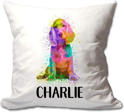 Personalized Watercolor Cocker Spaniel Throw Pillow  - Cover Only OR Cover with Insert
