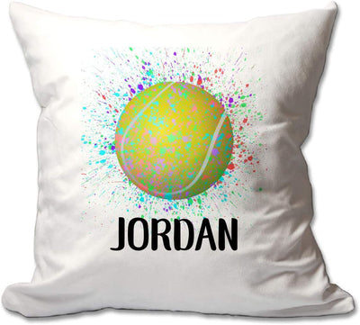 Personalized Splatter Paint Tennis Throw Pillow  - Cover Only OR Cover with Insert