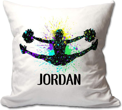 Personalized Splatter Paint Cheer Throw Pillow  - Cover Only OR Cover with Insert