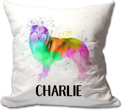 Personalized Watercolor Sheltie Throw Pillow  - Cover Only OR Cover with Insert