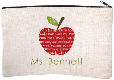Personalized Teacher Name Cosmetic Bag