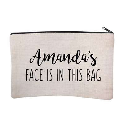 Personalized Face is in This Bag Cosmetic Bag