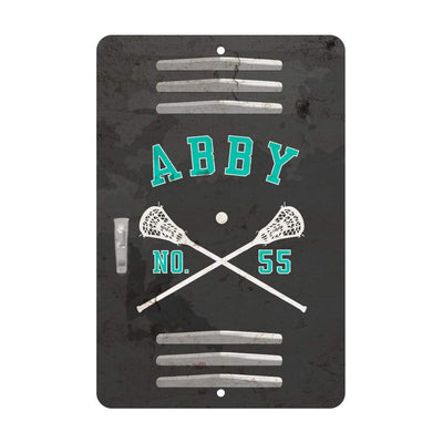 Personalized Girl's Lacrosse Locker Room Sign