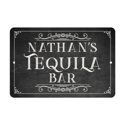 Chalkboard Look Tequila Bar Metal Room Sign