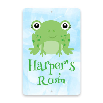 Personalized Frog Metal Room Sign