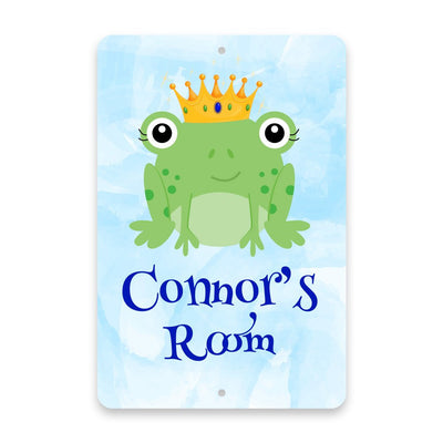 Personalized Frog Prince Metal Room Sign