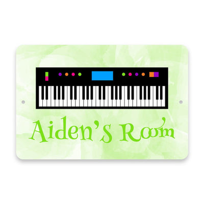 Personalized Piano Keyboard Metal Room Sign