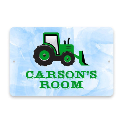Personalized Bulldozer Metal Room Sign