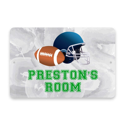 Personalized Football Metal Room Sign