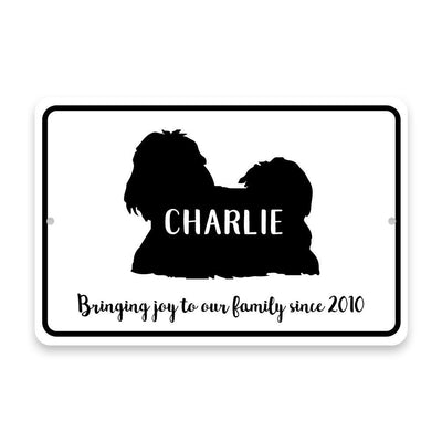Personalized Shih Tzu Bringing Joy to Our Lives Metal Room Sign
