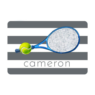 Personalized Tennis Metal Wall Decor with Tennis Ball - Aluminum Tennis Sign with Name