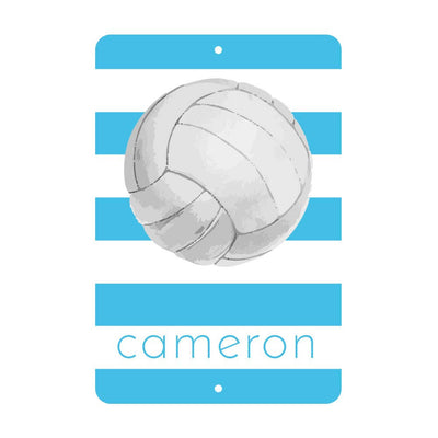 Personalized Volleyball Metal Wall Decor with Volleyball - Aluminum Volleyball Sign with Name