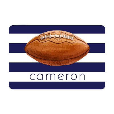 Personalized Football Metal Wall Decor with Football - Aluminum Football Sign with Name