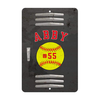 Personalized Softball Locker Room Sign