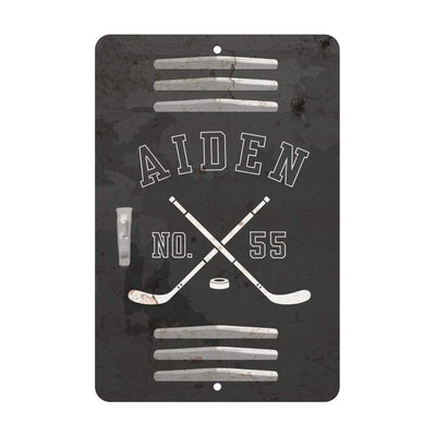 Personalized Hockey Locker Room Sign