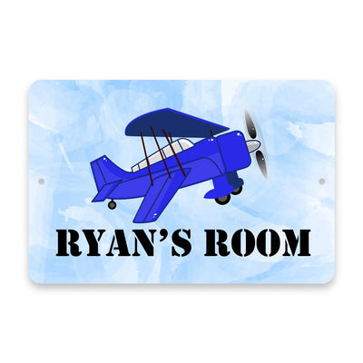 Personalized Airplane Metal Room Sign