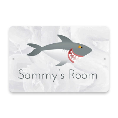 Personalized Shark Metal Room Sign