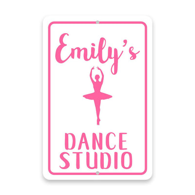 Personalized Ballet Dance Studio Metal Room Sign