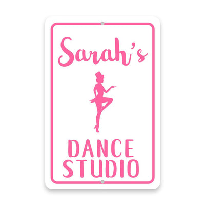 Personalized Tap Dance Studio Metal Room Sign