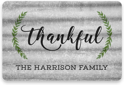 Personalized Metal Thankful Sign - Metal 8 X 12 Sign