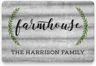Personalized Metal and Wood Look Farmhouse Sign - Metal 8 X 12 Sign