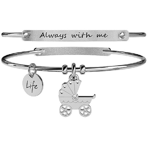 BRACCIALE DONNA SPECIAL MOMENT - CARROZZINA - ALWAYS WITH ME KIDULT