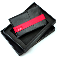 Skint Leather Wallet - Black/Red