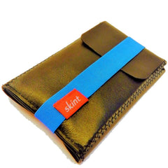 Skint Leather Wallet - Black/Blue