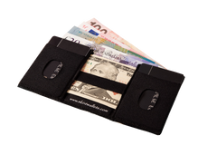 Skint Leather Wallet - Black/Black