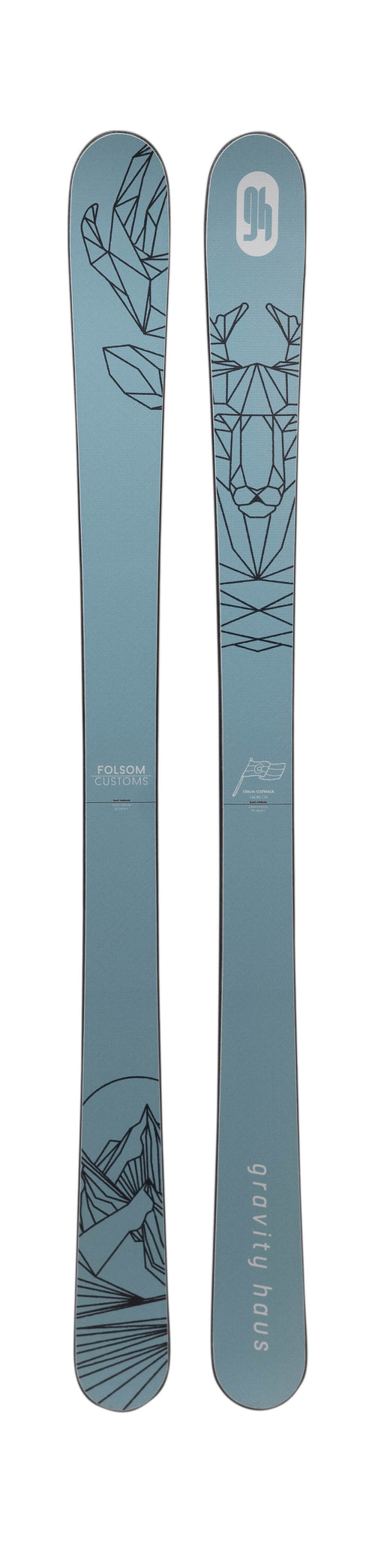 163cm Catwalk Skis w/ GH Custom Design