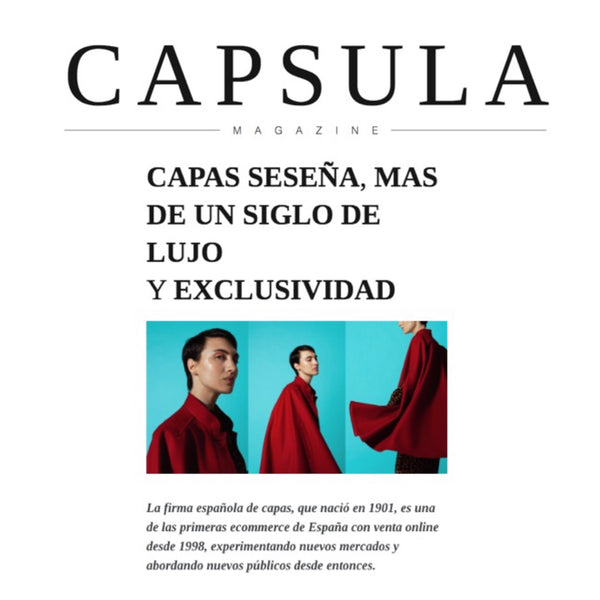CAPSULA MAGAZINE INTERVIEWS MARCOS SESEÑA TO TELL THE STORY ABOUT HIS HANDMADE CENTENARY CAPES