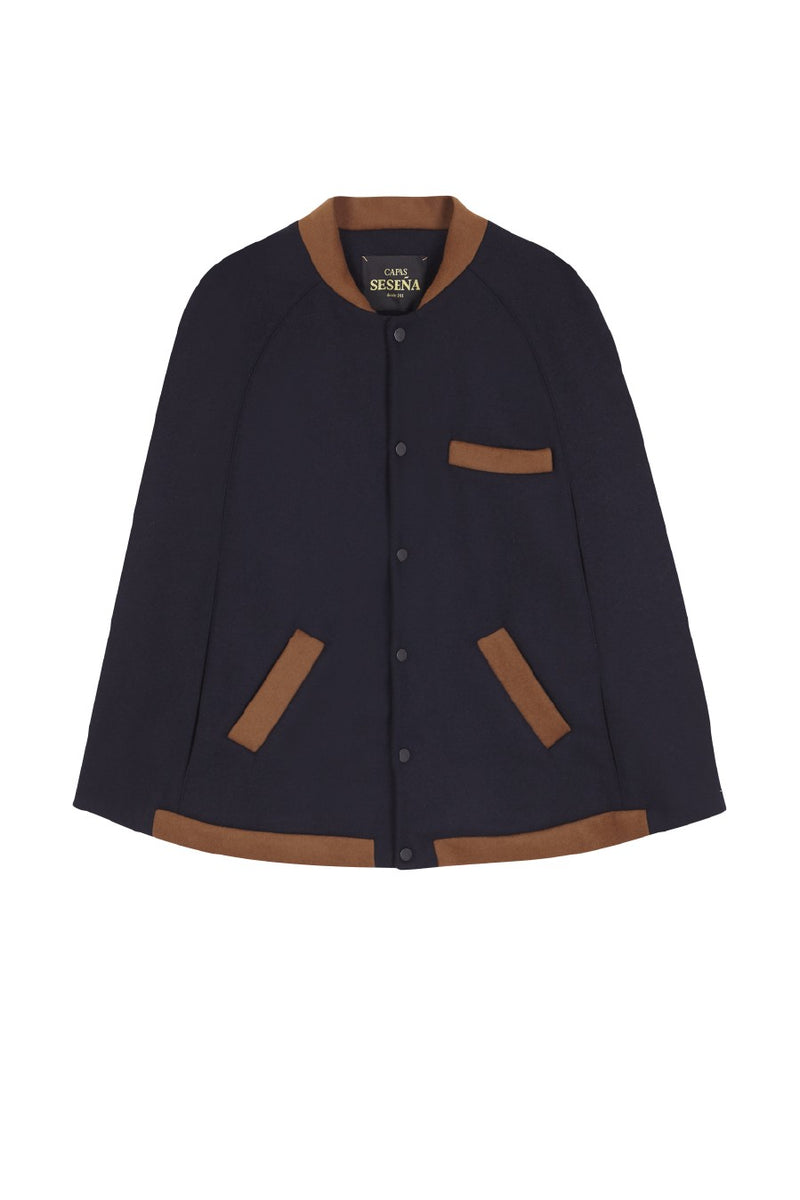 CLUB CAPE navy - brown