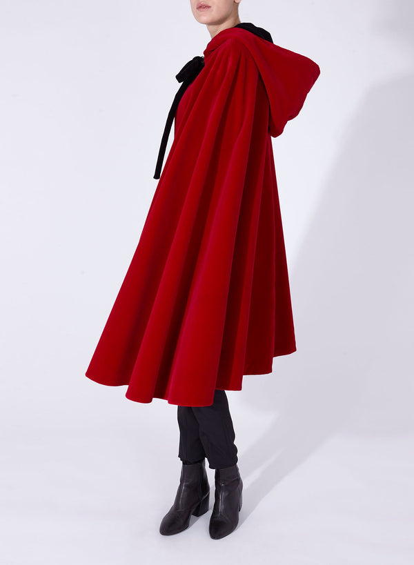 NICOLE CAPE Red - Black reversible