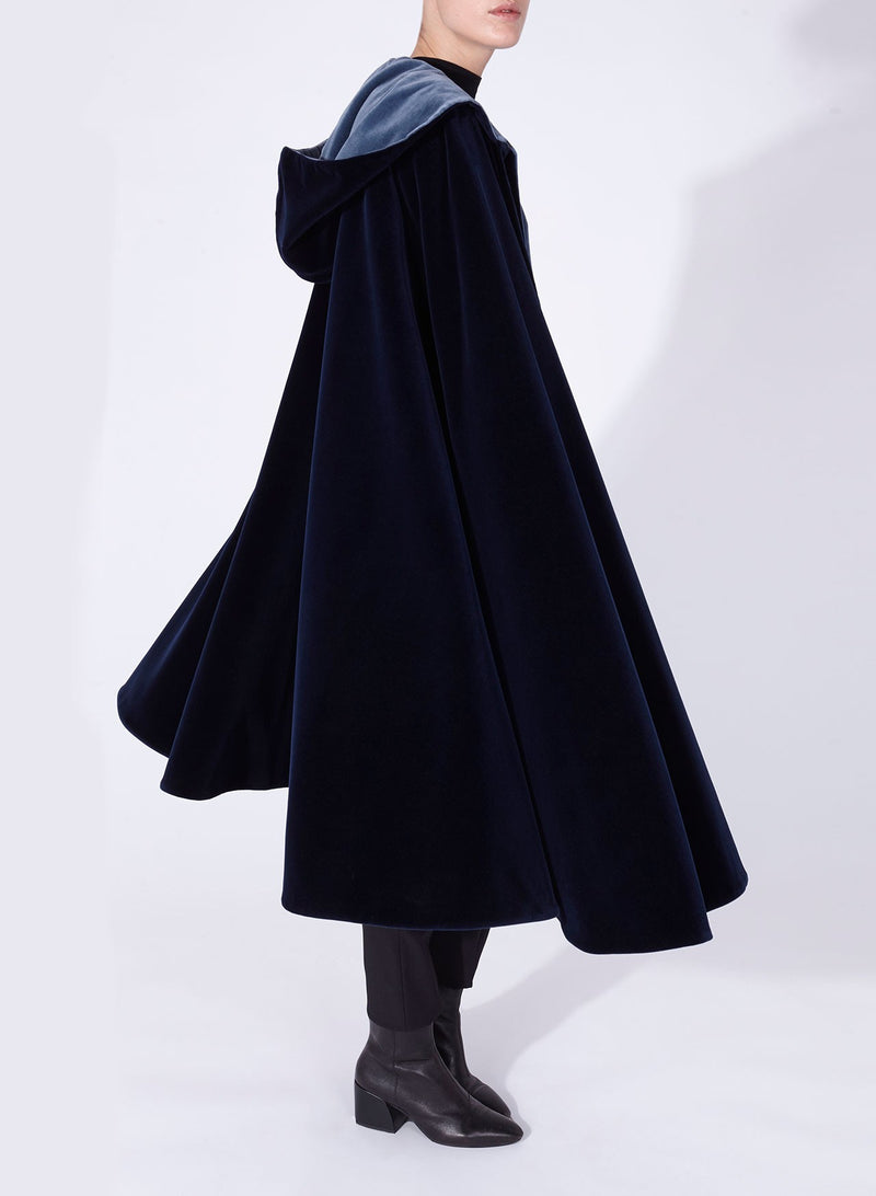 NICOLE CAPE Navy - Blue reversible